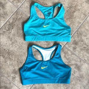 Lot of 2 Nike Pro Sports Bras